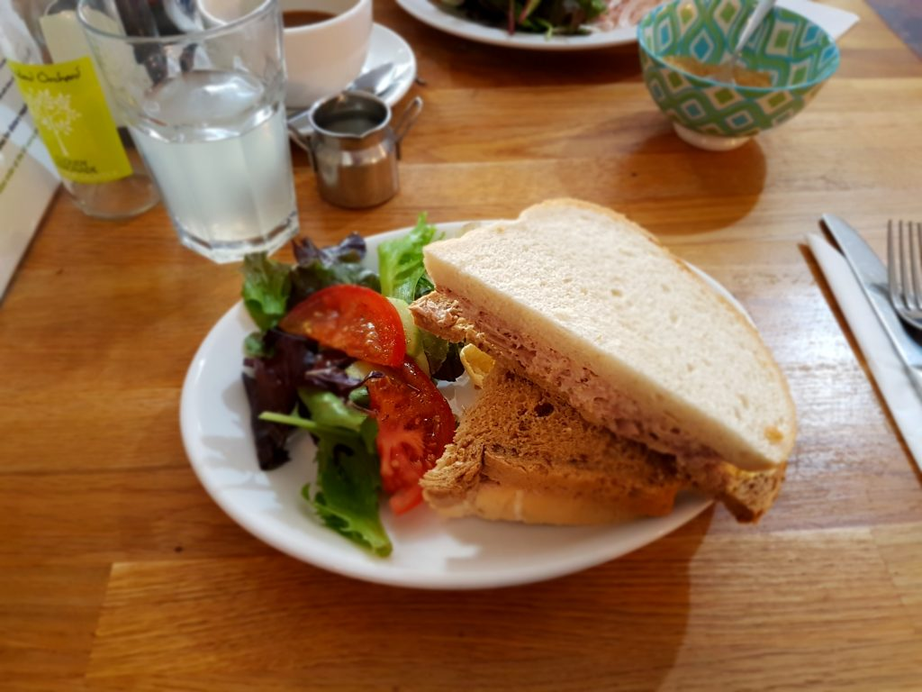Lunch at LBs Cafe (formally the Swan Yard cafe)