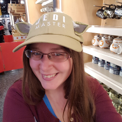 Girl in Yoda hat